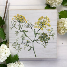Load image into Gallery viewer, Botanical art, Fennel,  herb shelf sitter/ Free U.S. Shipping!*