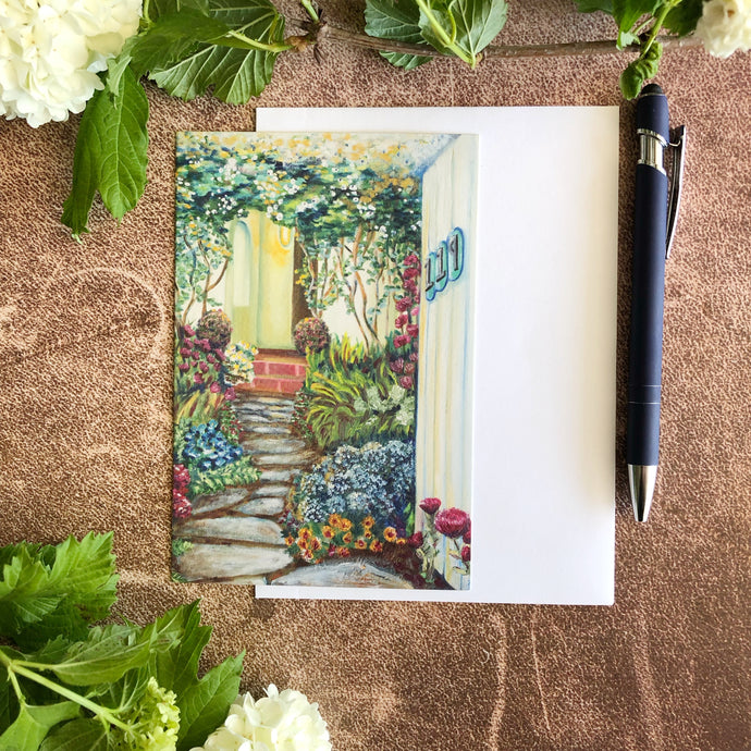 Cottage Garden Greeting Card