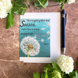 Dandelion Scripture Greeting Card - Ecc 3:1
