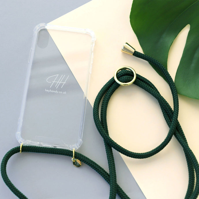 Phone necklace / racing green