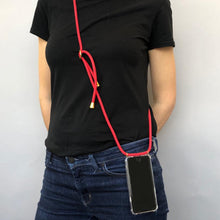 Load image into Gallery viewer, Phone necklace / fire red