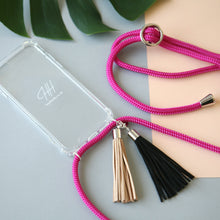 Load image into Gallery viewer, Phone necklace / hot pink
