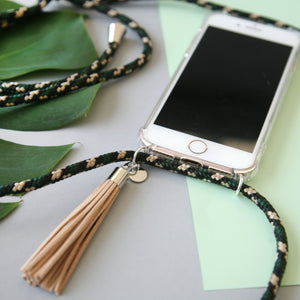 Phone necklace / hunter camo
