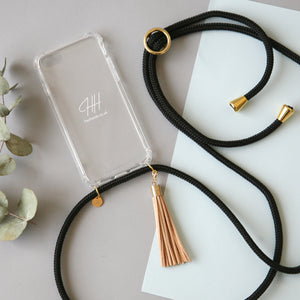 Phone necklace / black coffee