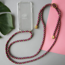 Load image into Gallery viewer, Phone necklace / berry chocolate