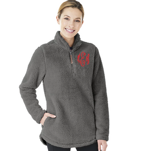 Women's Monogrammed Fleece Pullover
