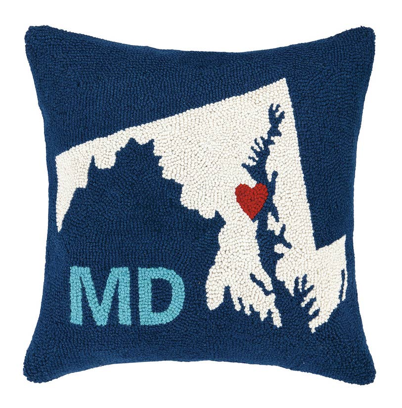 Maryland State Love Pillow - Pink Dot Styles