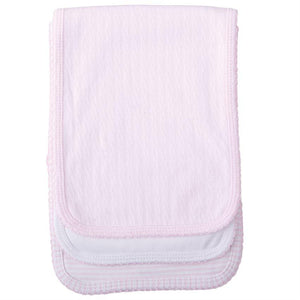 Monogrammed Burp Cloths (Set of 3) - Pink Dot Styles