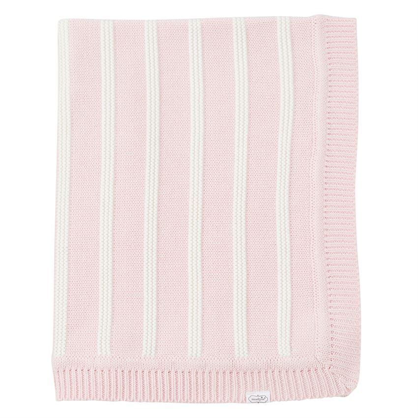 Pink Striped Baby Blanket