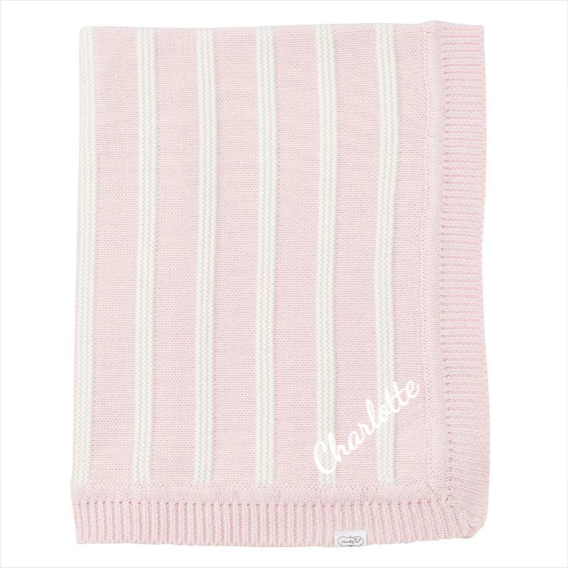 Pink Striped Baby Blanket - Pink Dot Styles