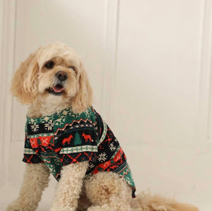 Foxy Fairisle Dog PJ's
