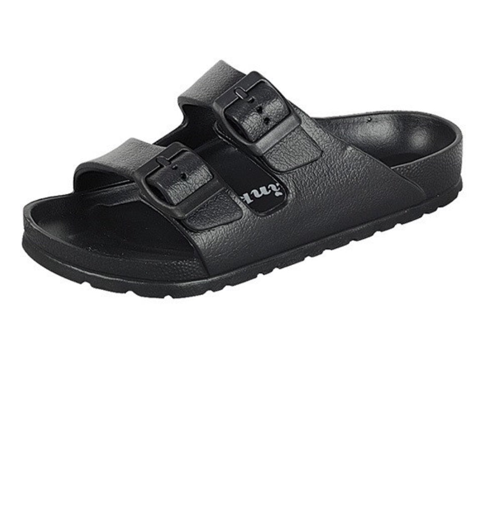 Buckle Strap Sandal Black