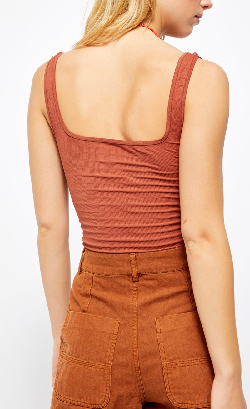 Square One Seamless Cami - Rust