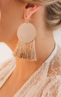 Rose Gold Tassel Earrings