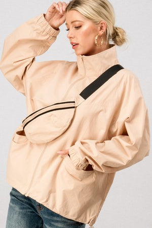 The Lacey Windbreaker and Fanny Pack Set - Blush