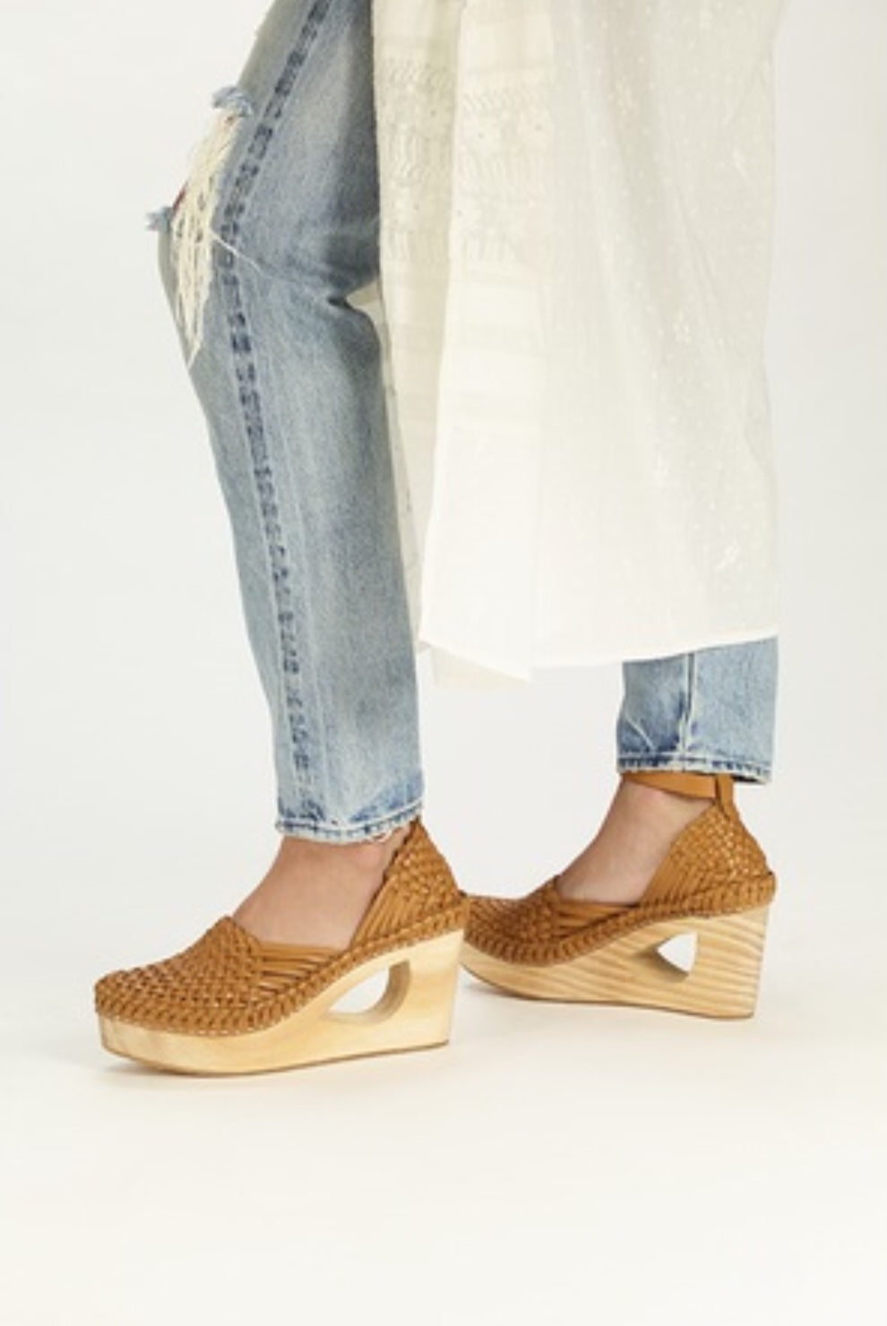 Free People Teagan Huarache Clog Natural