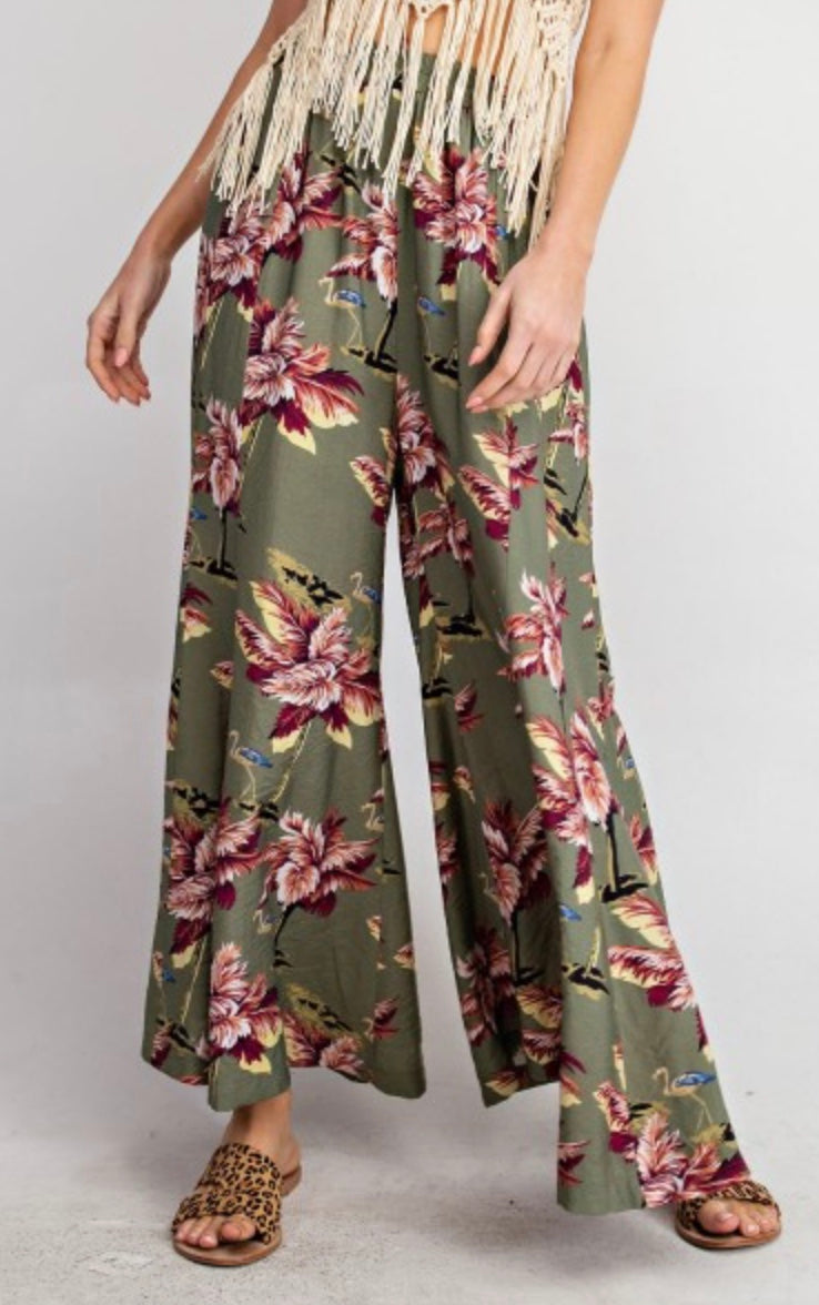 It's Tropical Time Wide Leg Pants