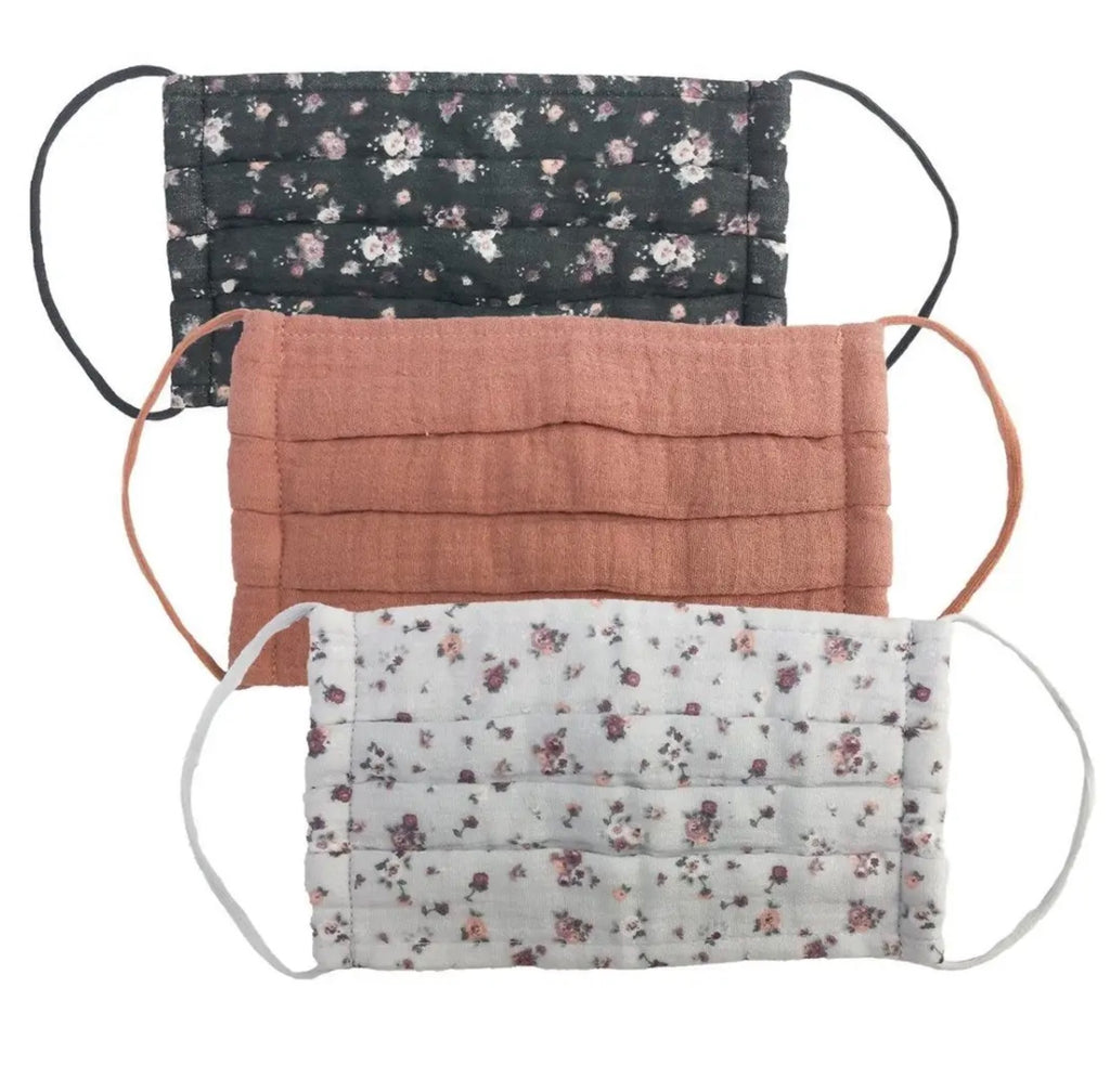 Cotton 3-Piece Face Masks - Floral