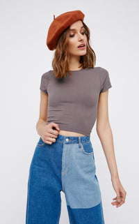 Cap Sleeve Seamless Crop Top