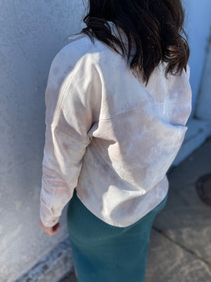 Mocha Marbled Lightweight Slouchy Jacket