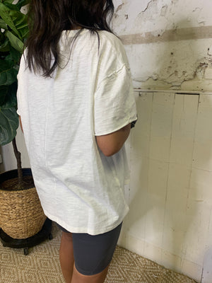 Casual Oversized White Tee