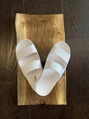 Tidal Wave Sandal in White