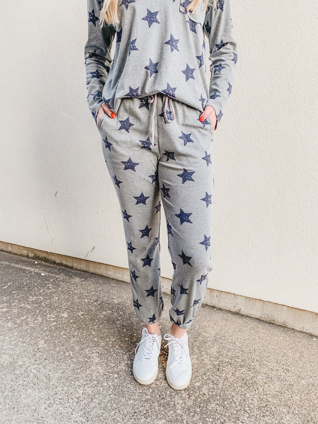 Star Print Everyday Lounge Set - Joggers