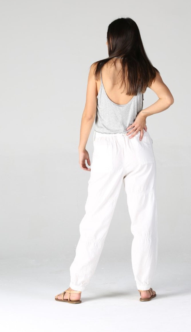 The Laken Cargo Pant in Ivory