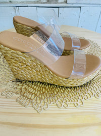 Bungalow Wedge Slide Sandal - Natural