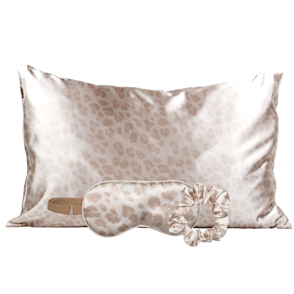 The Satin Sleep Set - Leopard
