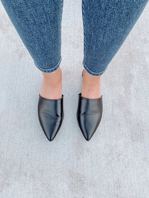 Black Fashion Mules