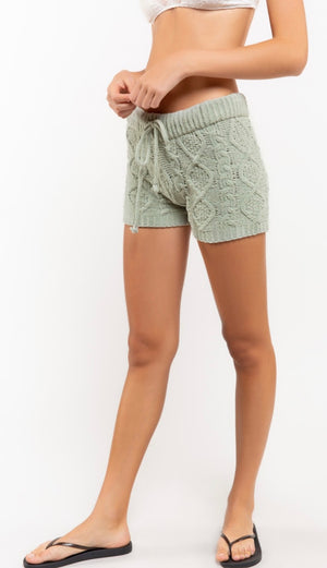 Berber Fleece Knit Short - Desert Sage