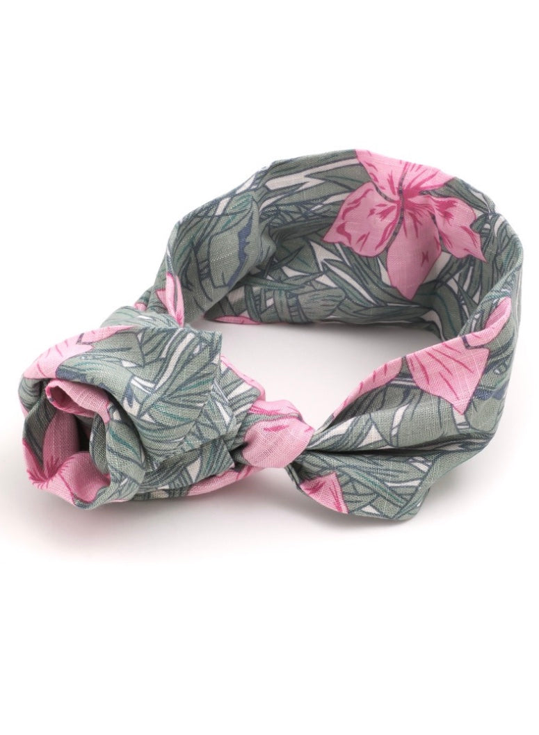 Self Tie Flower Knot Headband