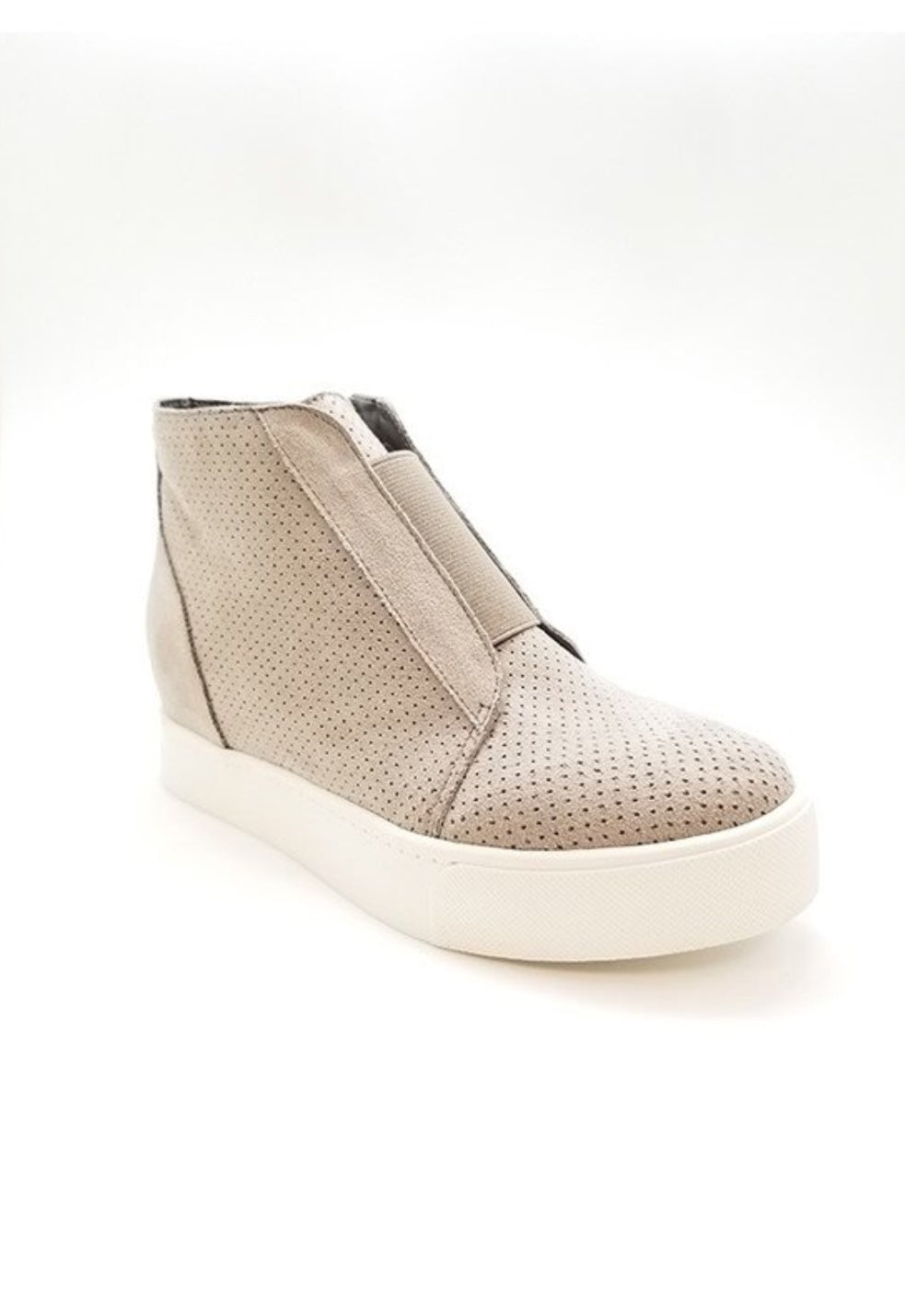 Pointer Hidden Wedge Heel Sneaker Taupe