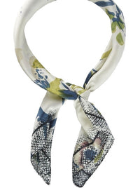 Abstract Floral Print Neckerchief
