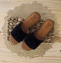 Keesha Tassel Sandal in Black