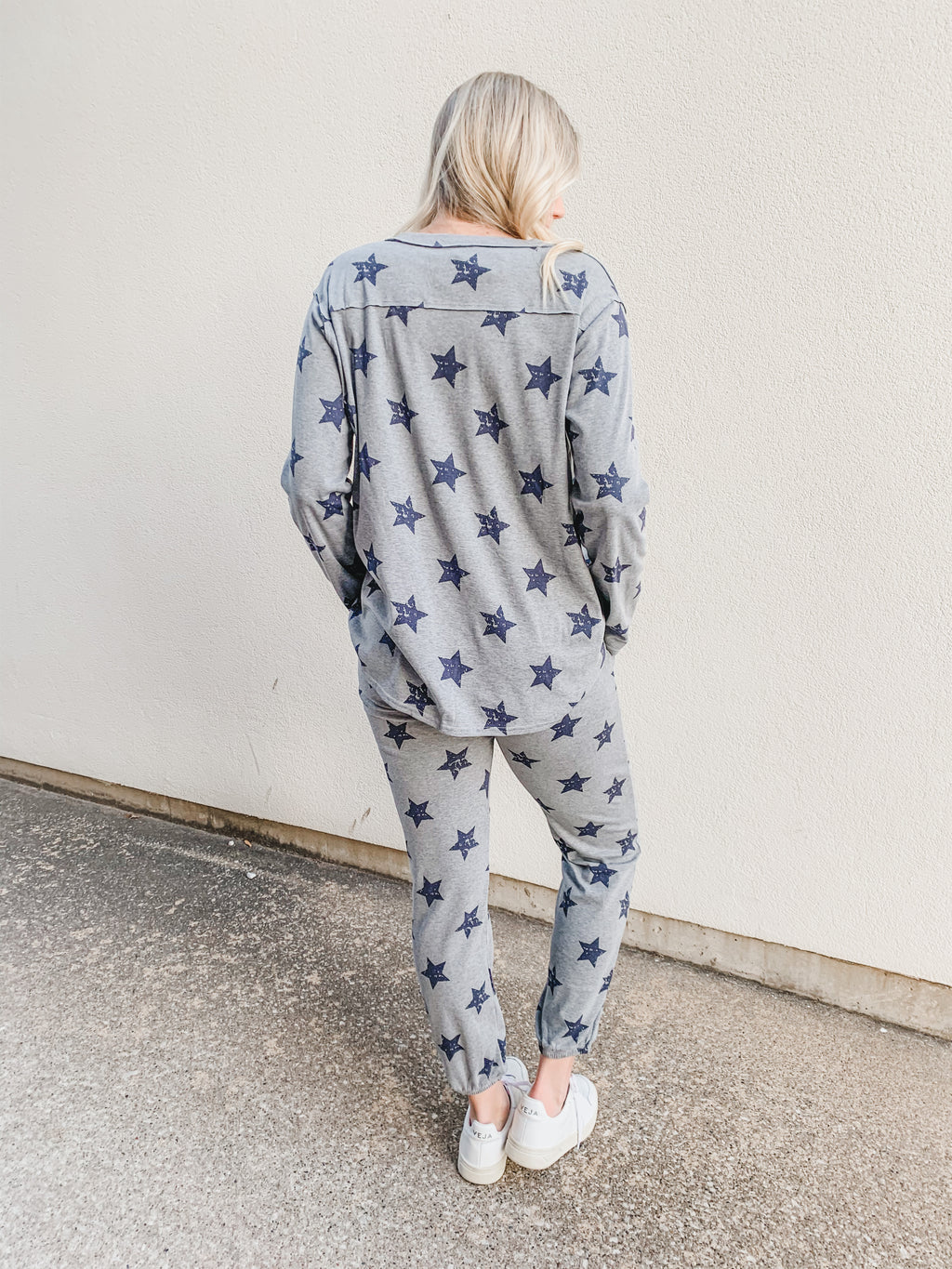 Star Print Everyday Lounge Set - Top