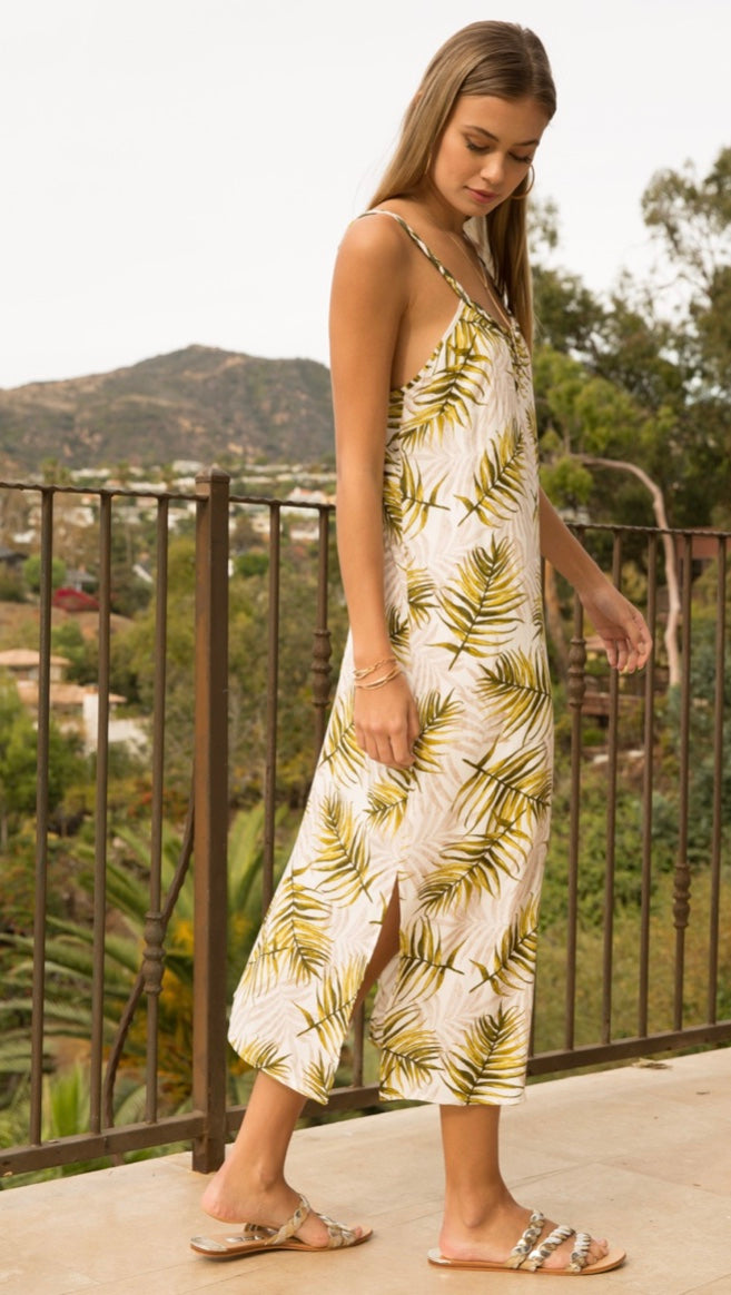Tenley Tropical Print Midi Dress