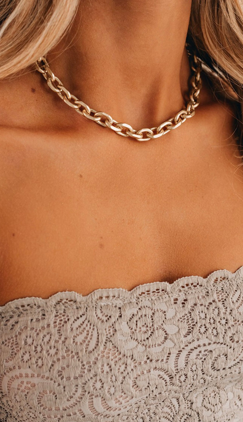 Gold Chain Style Necklace