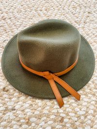 Olive Green Panama Hat