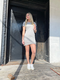 Alex Cotton Ruched Mini Dress
