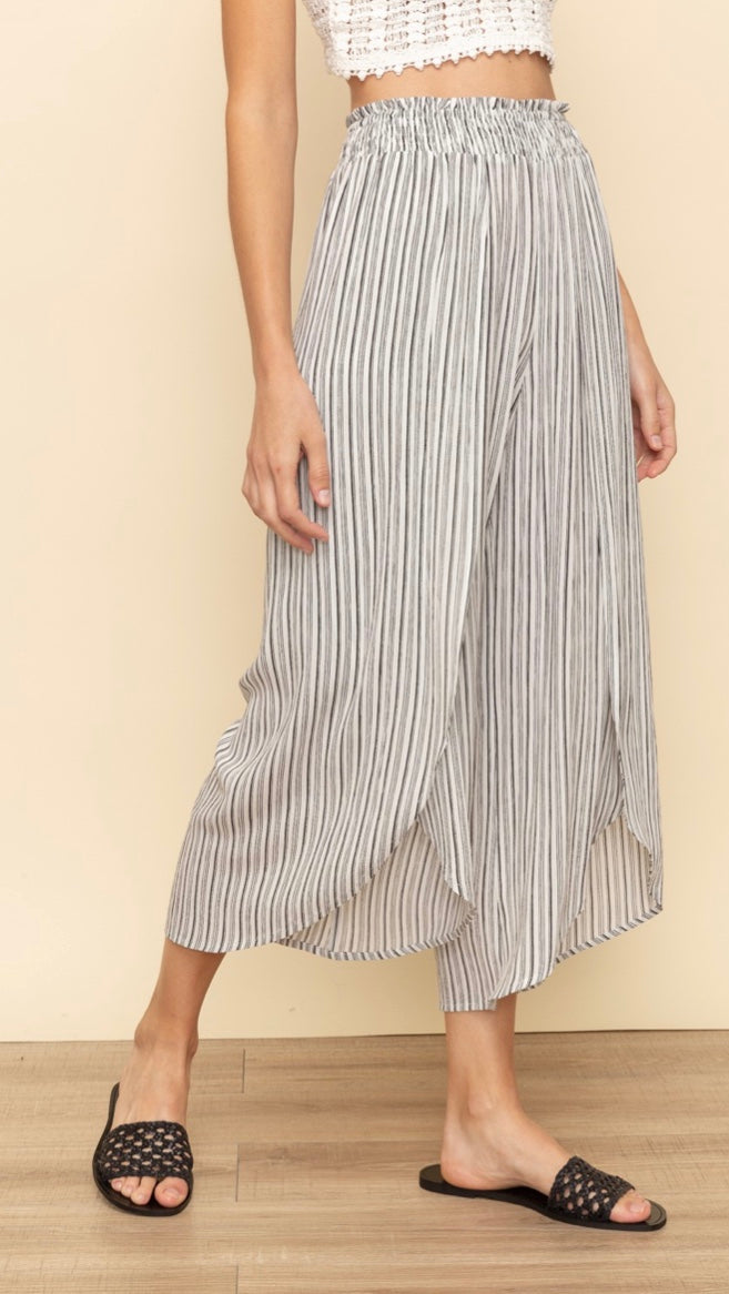 Nina Slit Front Wide Leg Pants