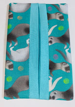 Load image into Gallery viewer, Ferret Themed Pocket Tissue Holder Teal