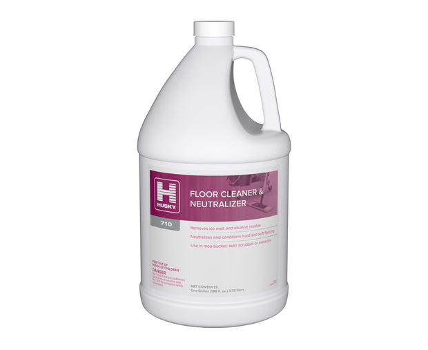 Husky 710: Floor Cleaner & Neutralizer 1gal 4/cs