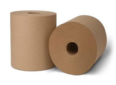 Roll Paper Towel - Natural, 6 rolls, 800ft/cs