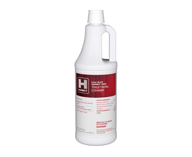 Husky 300: Low Acid Toilet Bowl Cleaner (9% HCI), 32oz 12/cs