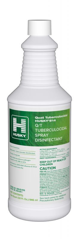 Husky 814: Q/T Tuberculocidal Spray Disinfectant Cleaner