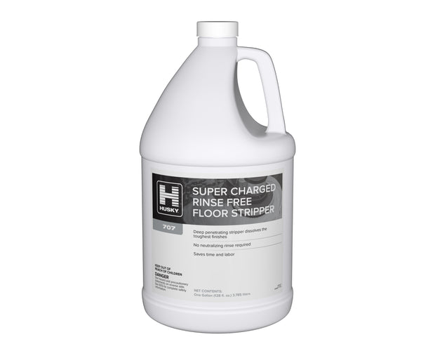 Husky 707: Super- Charged Rinse-Free Floor Stripper 1 gal 4/cs