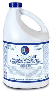 KIK Pure Bright Bleach, 1gal 6/cs