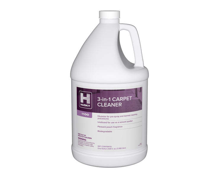 Husky 1100: 3-in-1 Carpet Cleaner, 1gal 4/cs